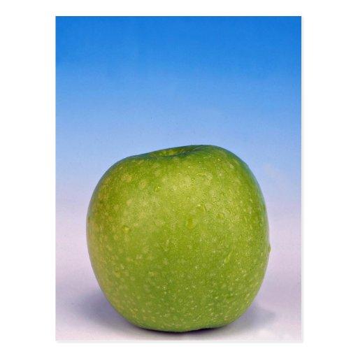 manzana verde jugosa postales
