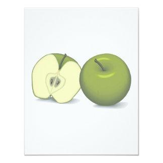 manzana verde realista anuncio