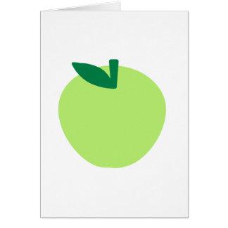 Manzana verde tarjeton