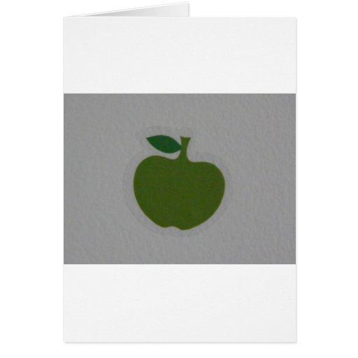 manzana verde tarjetón