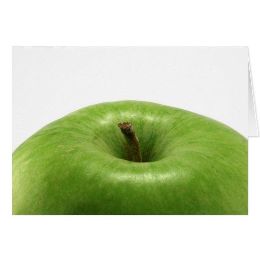manzana verde tarjeta