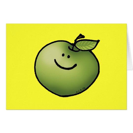 Manzana verde tarjeta de felicitación