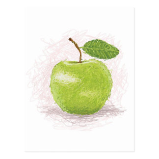 manzana verde tarjeta postal