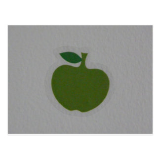 manzana verde tarjetas postales