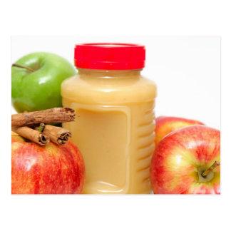 Manzanas canela y compota de manzanas postal