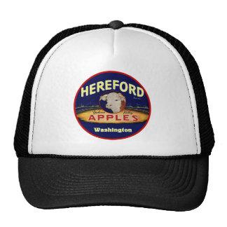Manzanas de Hereford Washington Gorras De Camionero