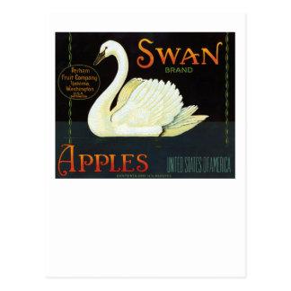 Manzanas de la marca del cisne postal