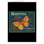 Manzanas del noroeste de lujo de Mariposa Tarjeta De Felicitación