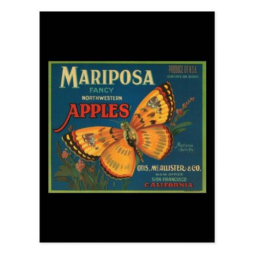 Manzanas del noroeste de lujo de Mariposa Tarjetas Postales