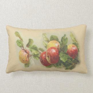 Manzanas del vintage cojín lumbar