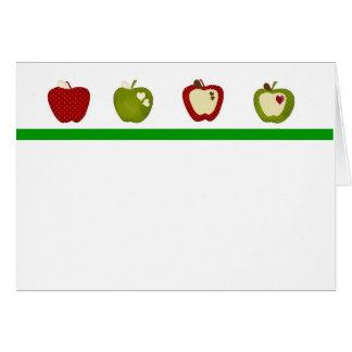 Manzanas dulces tarjeta de felicitación