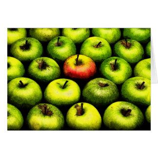 Manzanas el | tarjeta de felicitación