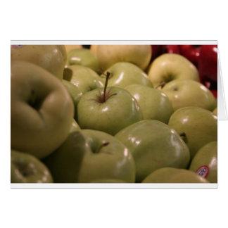Manzanas jugosas tarjeta de felicitación