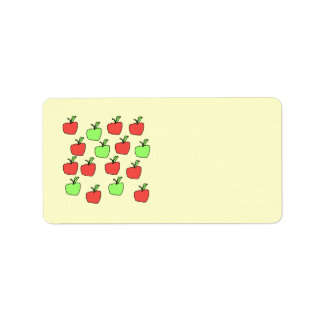 Manzanas rojas y manzanas verdes, modelo etiquetas de dirección