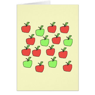 Manzanas rojas y manzanas verdes, modelo tarjetón