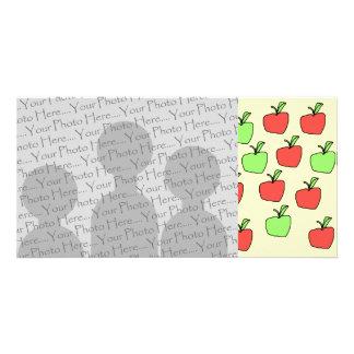 Manzanas rojas y manzanas verdes, modelo tarjeta fotográfica personalizada