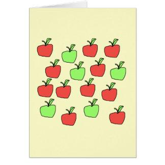 Manzanas rojas y manzanas verdes, modelo tarjeta pequeña