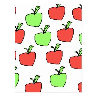 Manzanas rojas y manzanas verdes, modelo postal