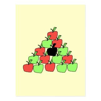 Manzanas rojas y verdes. Bolas de piscina, Postal
