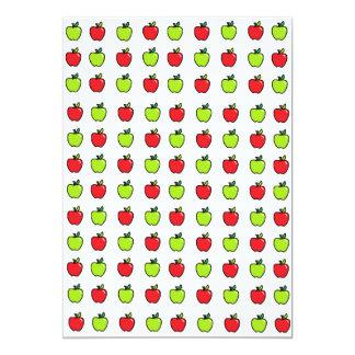 Manzanas rojas y verdes invitación 12,7 x 17,8 cm