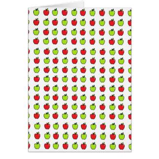 Manzanas rojas y verdes tarjeta de felicitación