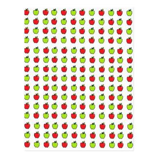 Manzanas rojas y verdes postal