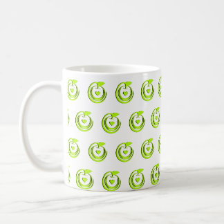 Manzanas sanas taza de café