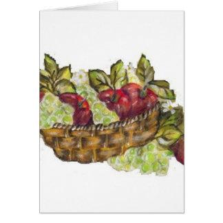 manzanas tarjeta de felicitación