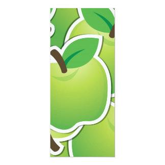 Manzanas verdes enrrolladas invitación 10,1 x 23,5 cm