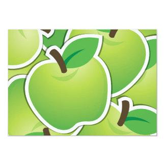Manzanas verdes enrrolladas invitación 12,7 x 17,8 cm