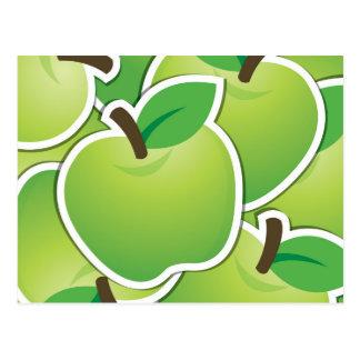 Manzanas verdes enrrolladas postal