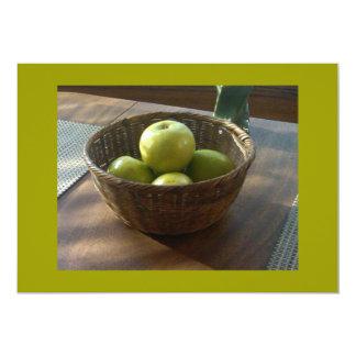 Manzanas verdes invitación 12,7 x 17,8 cm