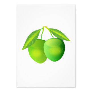 Manzanas verdes invitación personalizada