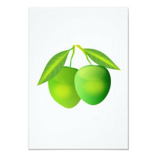 Manzanas verdes invitación 8,9 x 12,7 cm