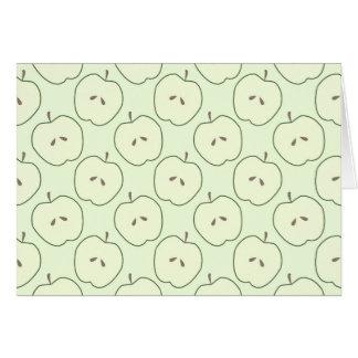 Manzanas verdes, modelo de la fruta felicitaciones