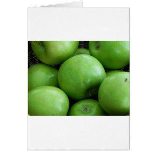 Manzanas verdes tarjetas