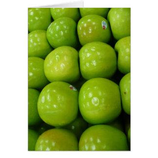 manzanas verdes felicitación