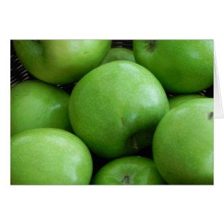 Manzanas verdes tarjeta