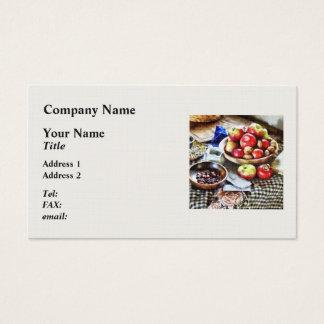 Manzanas y nueces tarjeta de visita