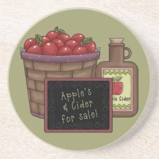 Manzanas y práctico de costa de la sidra posavasos cerveza