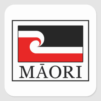 Maorí Pegatina Cuadrada
