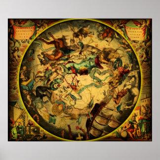 Map-1-plain antiguo póster
