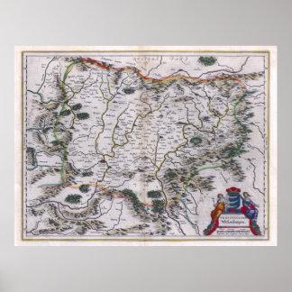 Mapa 1647 de Transilvania Póster