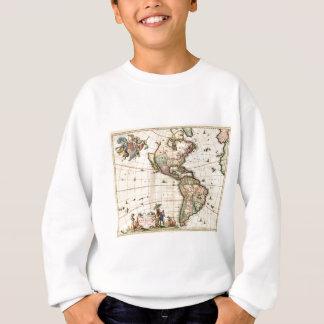 Mapa 1670 de América Sudadera