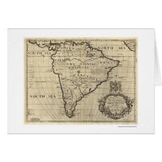 Mapa 1700 de Suramérica Tarjeta De Felicitación