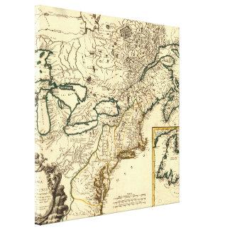 Mapa 1778 de Canadá y de los Estados Unidos Impresiones En Lona