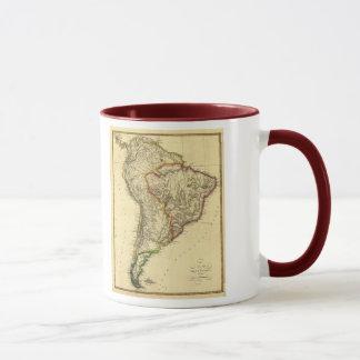 Mapa 1817 de Suramérica Taza