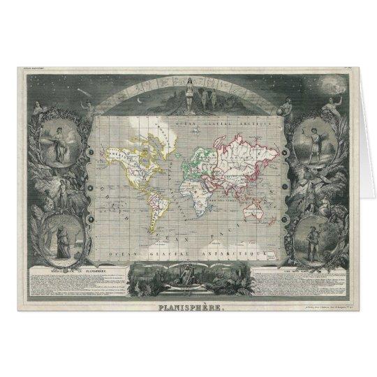 Mapa 1847 de Levasseur del vencedor del Tarjeta De Felicitación