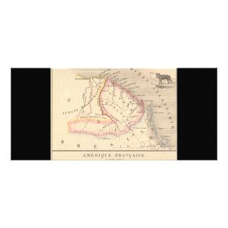 Mapa 1858 de Amerique Francaise (Guyane), Guyana Plantilla De Lona