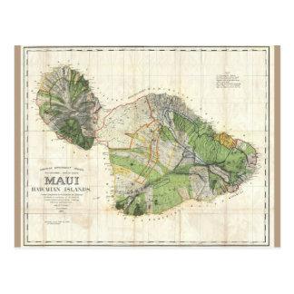 Mapa 1885 de De Witt Alexander de Maui, Hawaii Postal
